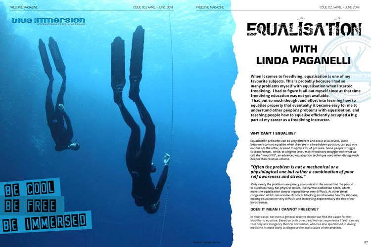 Equalisation With Record Italian Freediver