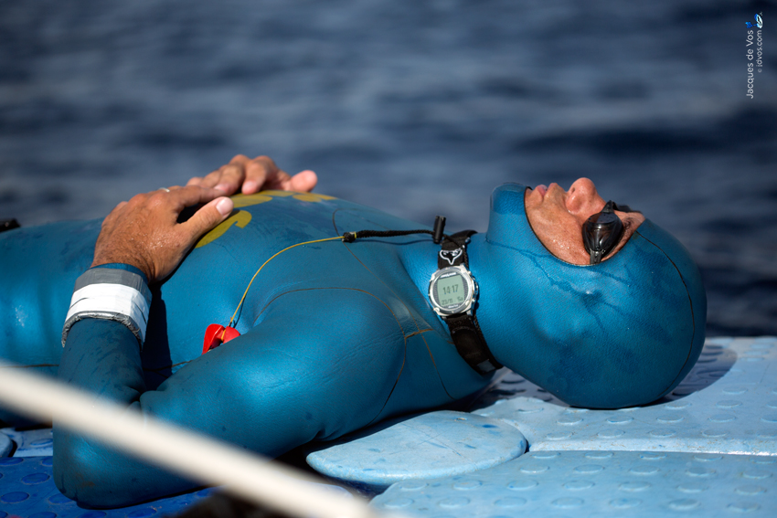 Freedivers often wear dive computers close to the head in order to hear depth alarms easier while diving.