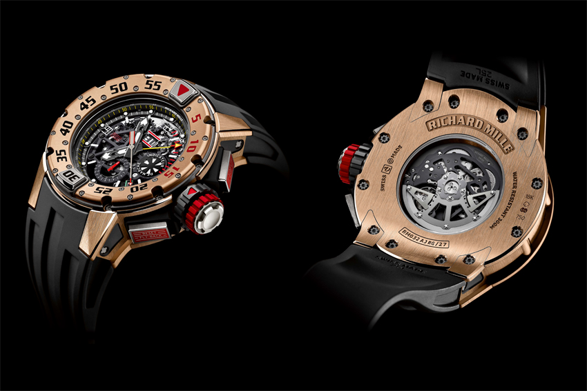 At 135 000 USD the Richard Mille Automatic Chronograph Diver is one of the most expensive 'dive watches' available.