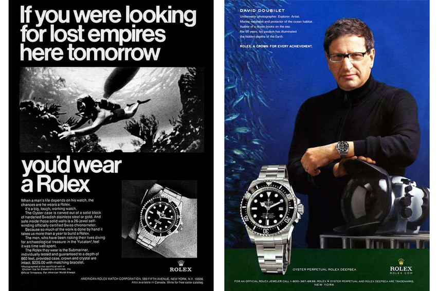 Rolex Ads: Then and Now - The spirit of exploration and adventure...