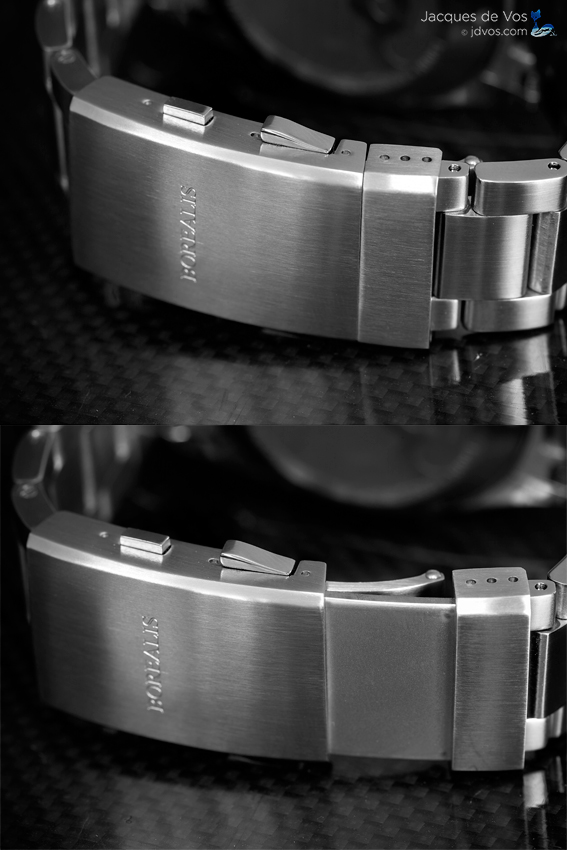 The Seahawk has an adjustable extension buckle with closed + 4 size ratcheting stops.