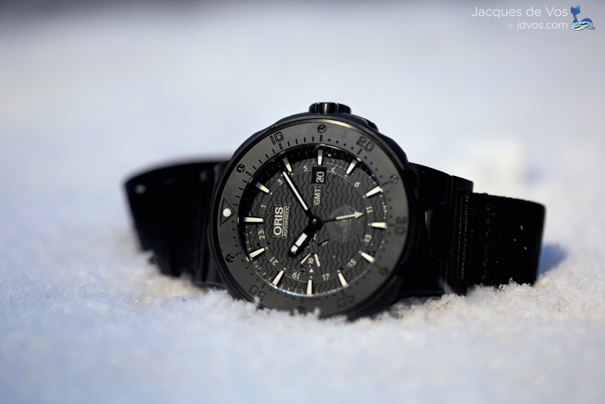 The Oris Force Recon GMT Was Tested And Worn In And Out Of The Water...& Snow.