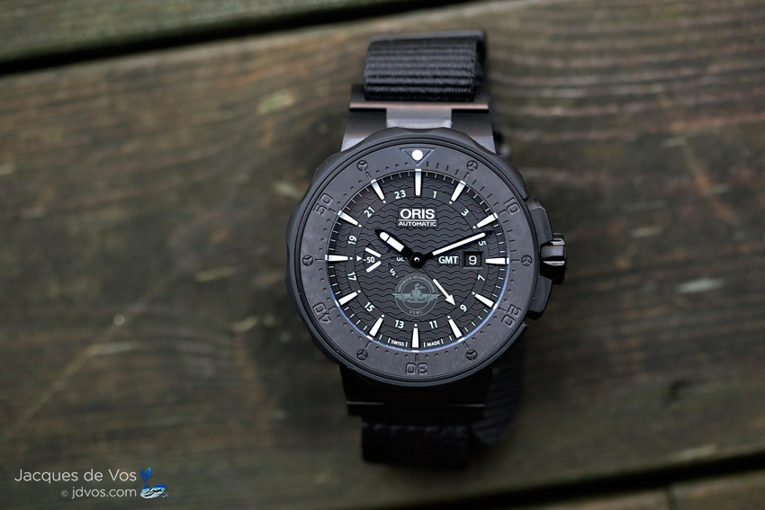 The Oris Force Recon GMT Features A Beautiful Matt Black  DLC Coating