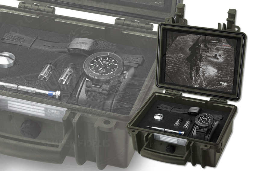 The Oris Force Recon GMT Waterproof Presentation Case