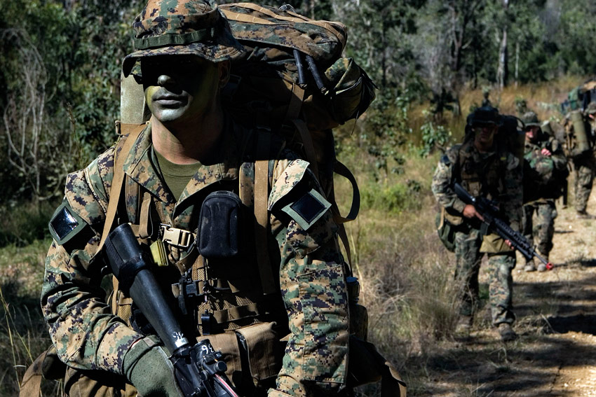 Force Recon Marines On Patrol With Full Gear - Creative Commons Image