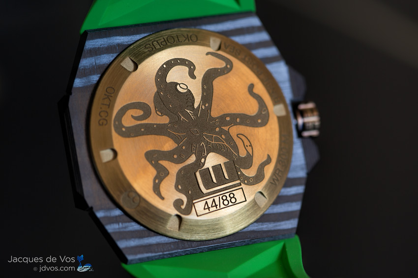 The Linde Werdelin Oktopus Double Date Carbon - Green Is Limited To 88 Watches.