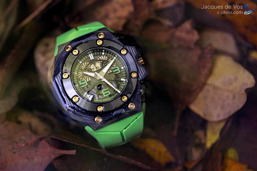The Linde Werdelin Double Date Carbon Green Is An Exceptionally Light Sports Watch.