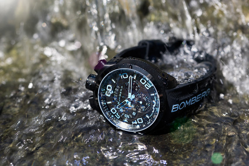 The Bomberg Bolt 68 Is Waterproof to 10 ATM. Great For Summer.