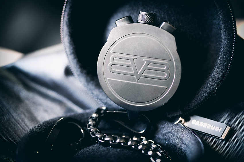 The Bomberg Logo On The Case Back Of The Pocket Watch Medallion